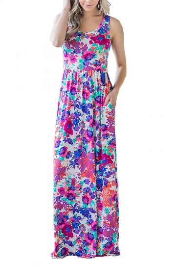 Floral Maxi Dresses with Pockets