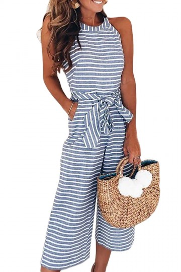 It's The Right Time Striped Jumpsuit