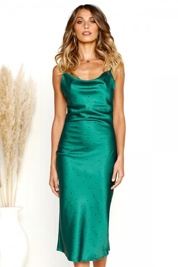 Slim and Sexy Strapless Dress-Green