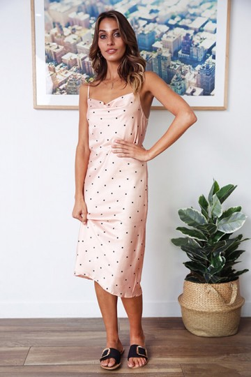 Slim and Sexy Strapless Dress-Pink