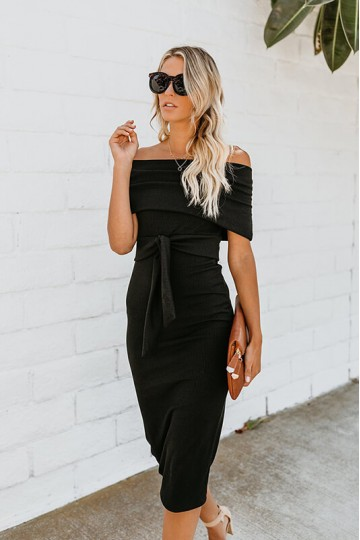 Sexy backless strapless dress-Black