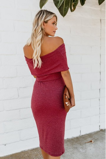 Sexy backless strapless dress-Red