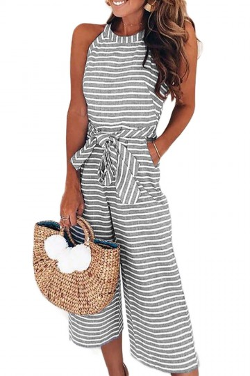Give Into Love Dress Striped Sleeveless Jumpsuit