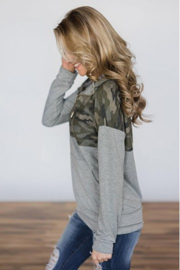 Leah - Camouflage Pattern Sweater